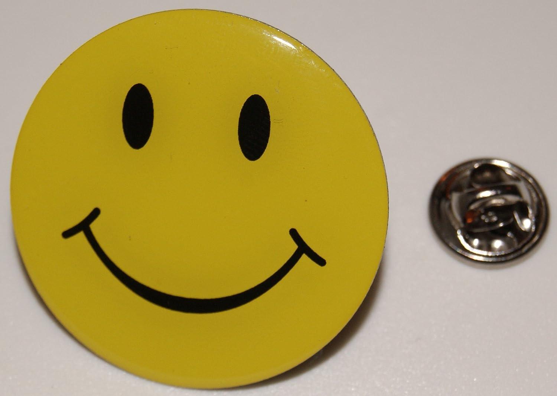 Smily Smiley lachendes Gesicht XL l Anstecker l Abzeichen l Pin 387 Smilie
