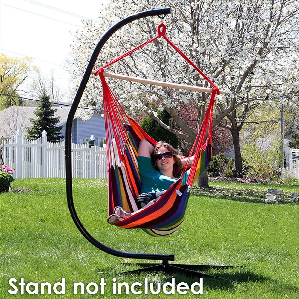 Sunnydaze Jumbo 44 Inch Wide Hanging Hammock Chair - Sunset - 330 lbs Weight Capacity