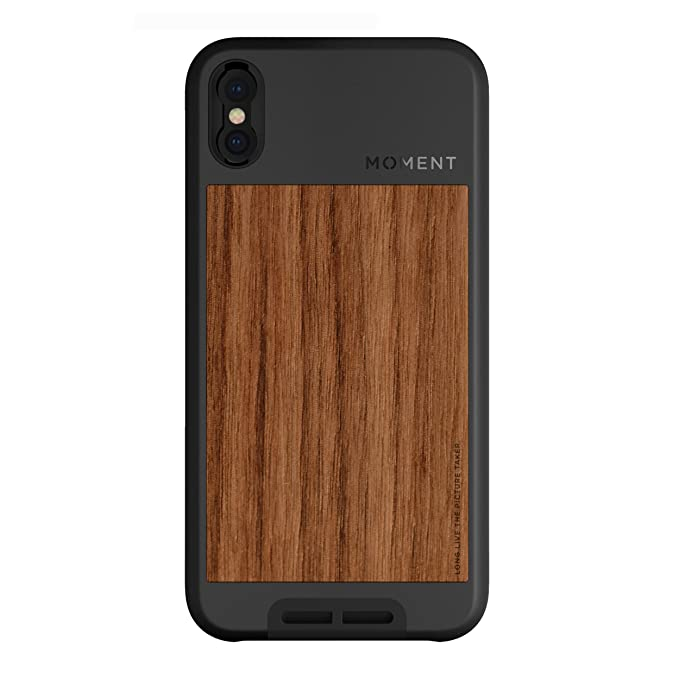 the best attitude 6cba0 37527 iPhone X Case || Moment Photo Case in Walnut Wood - Thin, Protective, Wrist  Strap Friendly case for Camera Lovers.