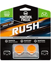 KontrolFreek Rush Performance Thumbsticks for Xbox One | Performance Thumbsticks | 2 Mid-Rise, Concave | Orange/White