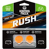 KontrolFreek Rush Peformance Thumbsticks para mando de XBOX ONE | Performance Thumbsticks | 2 sticks de altura media cóncava | Naranja/blanco