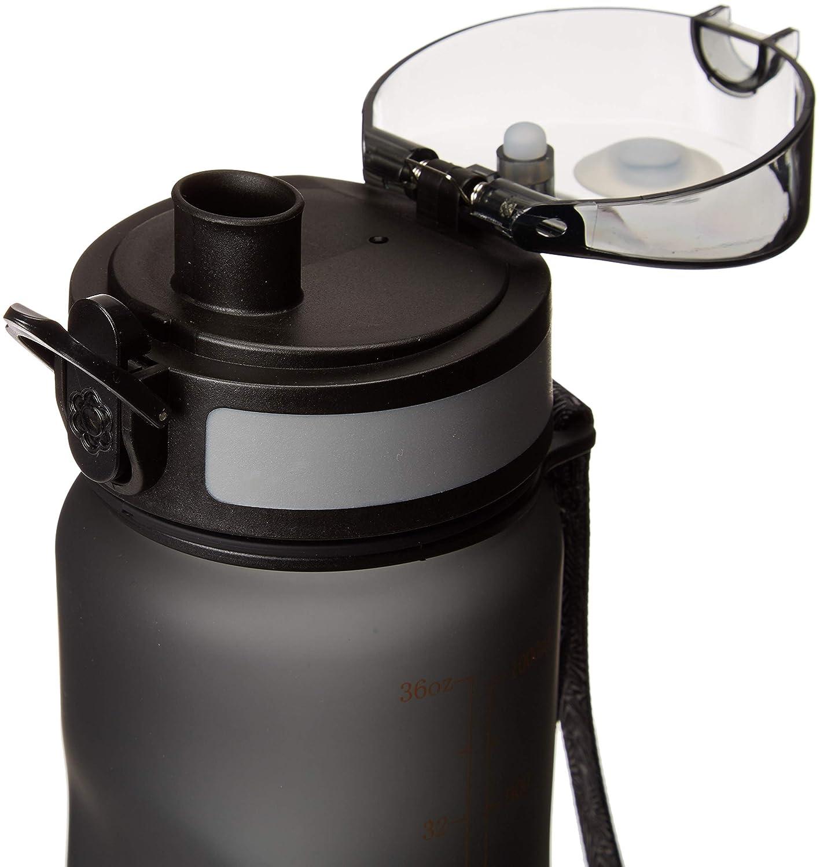 Victanz - Botella de agua deportiva de 1 litro, 1000 ml, botella ...
