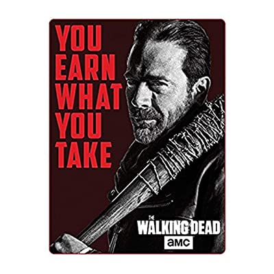 Just Funky Official The Walking Dead, Polar Fleece, Soft Plush Travel Blanket/Throw, 45 x 60 Inch: Home & Kitchen