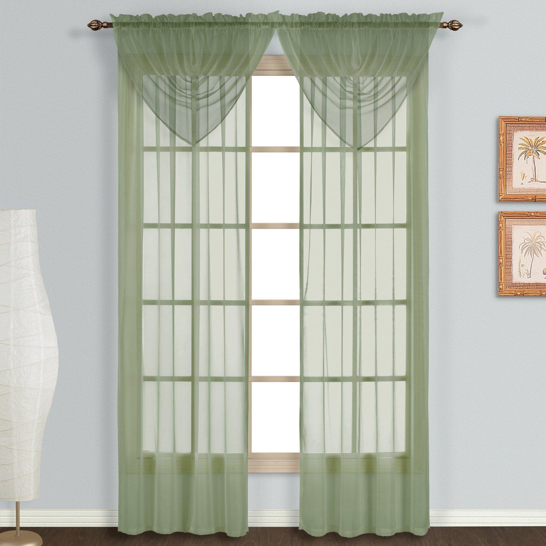 Amazon United Curtain Monte Carlo Sheer Window Curtain Panel
