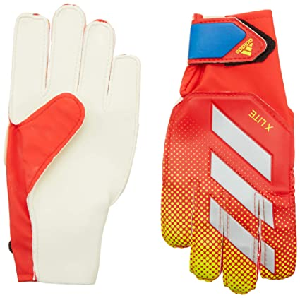 a84250dfe8 adidas X Lite Goalkeeper Gloves, Active Red/Solar Yellow/Football Blue,  Size 4