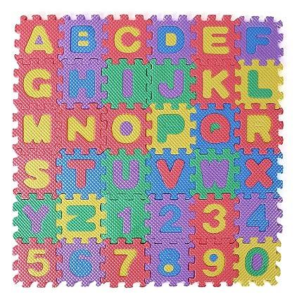 Amazoncom Iiniim 36pcs Alphabet Numbers Eva Floor Mat Baby Room