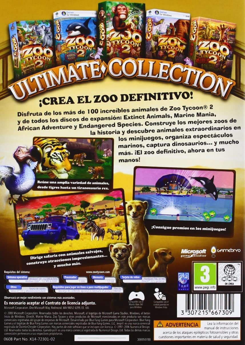 Zoo Tycoon: Ultimate Collection: Amazon.es: Videojuegos