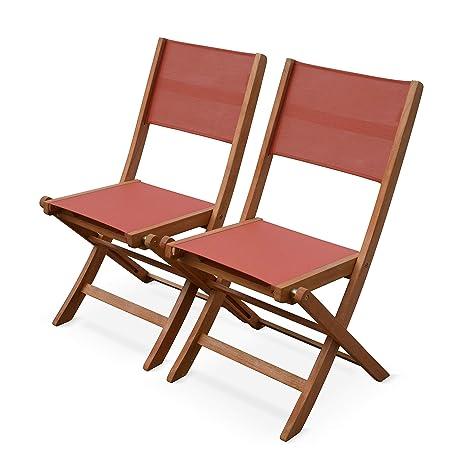 Alices Garden Almeria Terra Cotta - Juego de 2 sillas ...