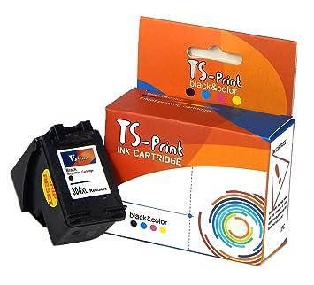 TS Print Cartucho de Tinta 304XL Negro para HP Deskjet 2600 2620 2621 2622 2623 2630 2632 2633 2634 3700 3720 3723 3730 3732 3735 3750 3758 3760 3762 ...