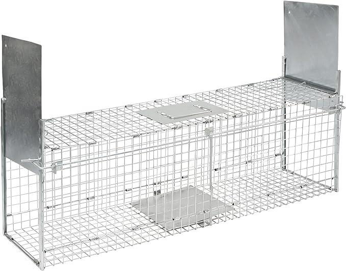 Kerbl Trampa Plegable para Animales con 2 entradas 100 x 28 x 28 cm, 299676