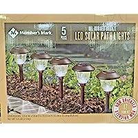 Member's Mark 5 peças de luzes solares de LED bronze polido a óleo
