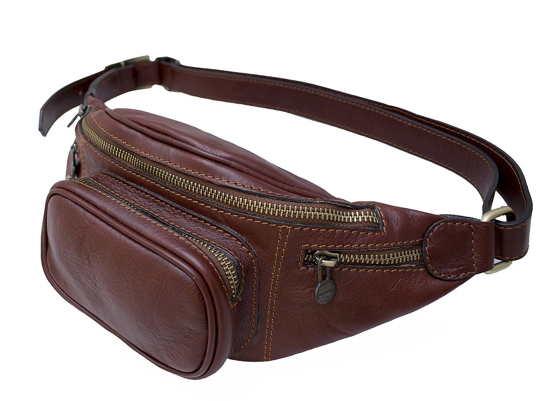 Dimensions in cm DeFeliceBags Leather Waist bag Mantova 32 x 12; belt maximum large 135 cm Genuine cowhide leather