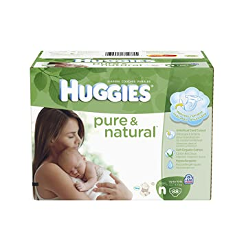 Huggies Pure and Natural Diapers, Newborn, 88 Count