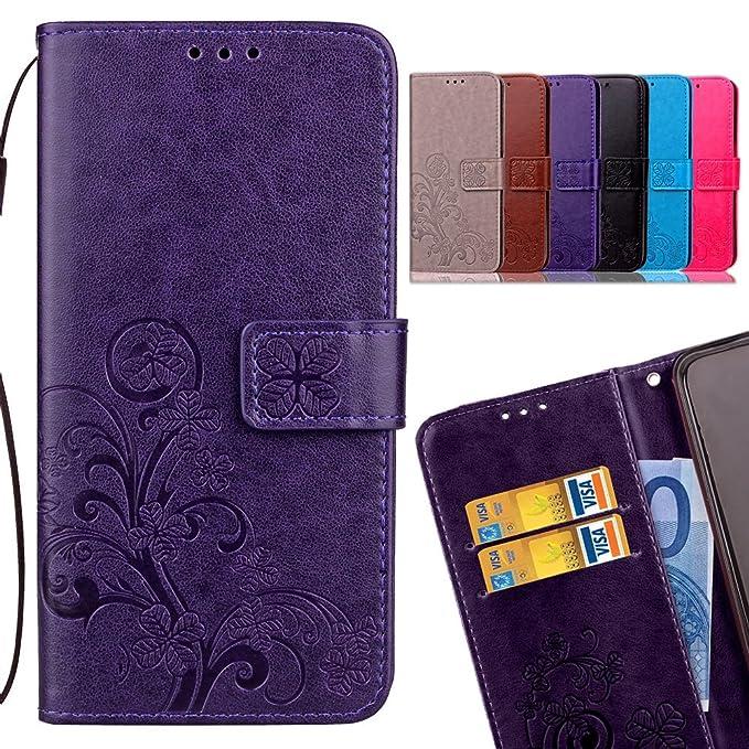 3 opinioni per LEMORRY Cover Per Xiaomi Redmi Note 4X Custodia Pelle Portafoglio Cuoio Flip