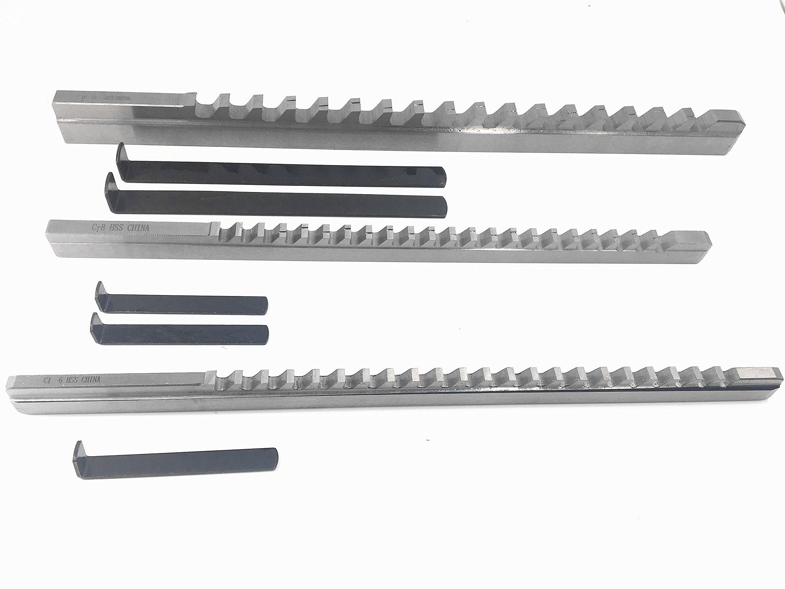 Keyway Broach B C D Type HSS Cutting Cutter Metric Inch Size CNC Metalwork (4mm B1 Push-Type)