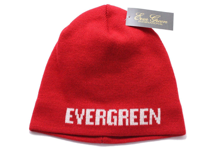 7240 Evergreen Cap Knit Cap Type 3 Original Japan Free Size Red Bekleidung
