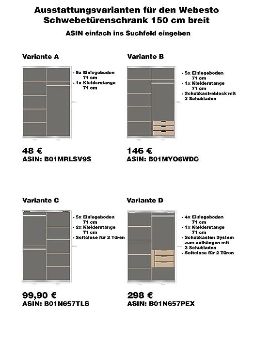 Schwebetürenschrank, Schiebetürenschrank, Ca. 150 Cm Breit, Buche Mit  Spiegel, Kleiderschrank: Amazon.de: Küche U0026 Haushalt