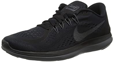 ff9db3e6069 Nike Womens Flex 2017 Running Shoes Black Metallic Hematite-Anthracite-Dark  Grey 6