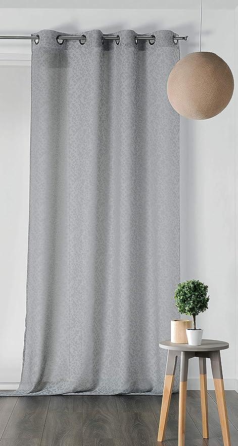 Linder - Cortina (72% poliéster, 28% algodón, 140 x 240 cm), Color Gris: Amazon.es: Hogar