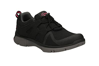 Clarks Damenschuhe In Sport Clarks Luminate Trace Textile Schuhes In Damenschuhe schwarz 99db69
