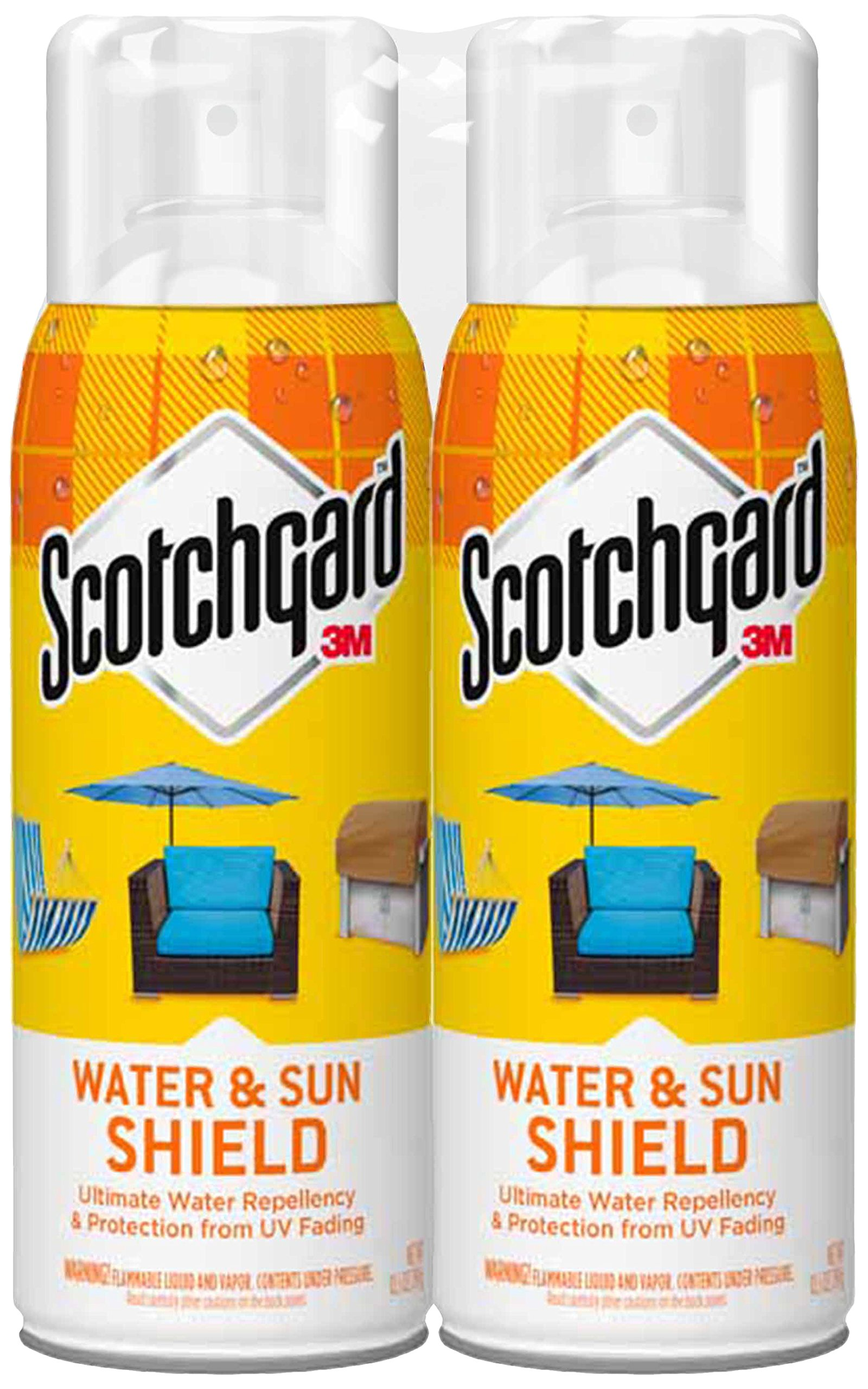 Scotchgard Water and Sun Shield with UV Protector, 2 Can, 10.5-Ounces (21 Ounces Total)