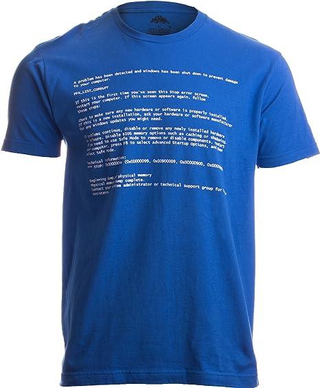 b1c21108ce55 BLUE SCREEN OF DEATH Adult Unisex T-shirt   Geeky Windows Error Nerd  Computer Tee