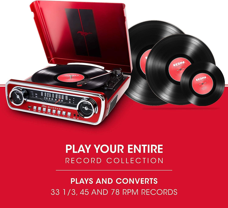 Amazon.com: Ion Audio, Mustang LP Ford, centro de mú ...