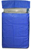 Yellow Weaves™ Waterproof & Dust-proof Top Load Polka Dots Fully Automatic Washing Machine Cover for Only 8 Kg, 8.5Kg- Blue Color