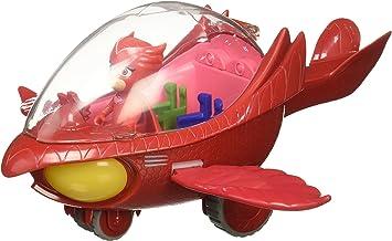 PJ Masks Vehículo Deluxe, búho Delta y buhíta, Color Rojo (Bandai ...