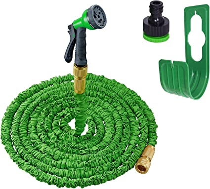 Flexibler Gartenschlauch 30m Grün dehnbarer Wasserschlauch