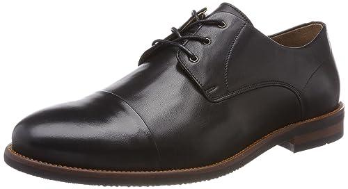 Ten Points Danny, Zapatos de Cordones Derby para Hombre, Negro (Black 101), 43 EU Ten Points