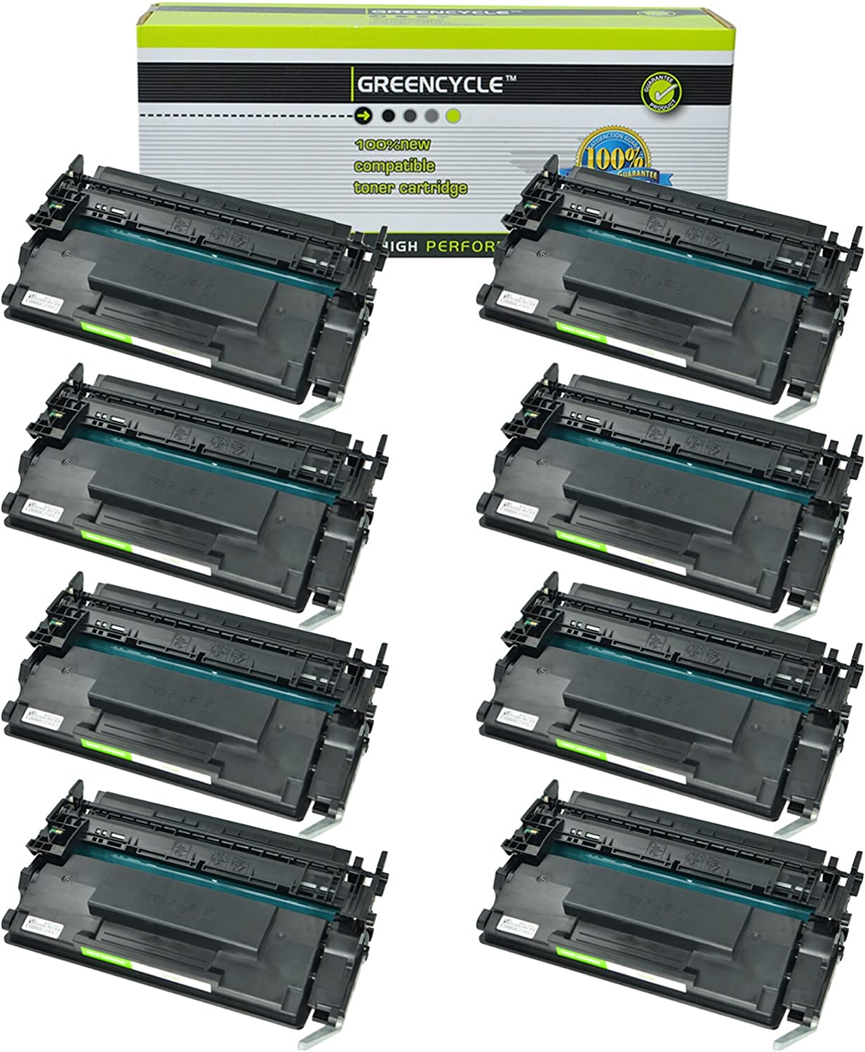 GREENCYCLE 8 Packs Compatible for HP 26X CF226X Black High Yield Toner Cartridge for Laserjet Pro M402 M426 Laserjet Pro M402dn M402n M402dw MFP M426fdw M426fdn M402d MFP M426dw Printers 9000 Pages