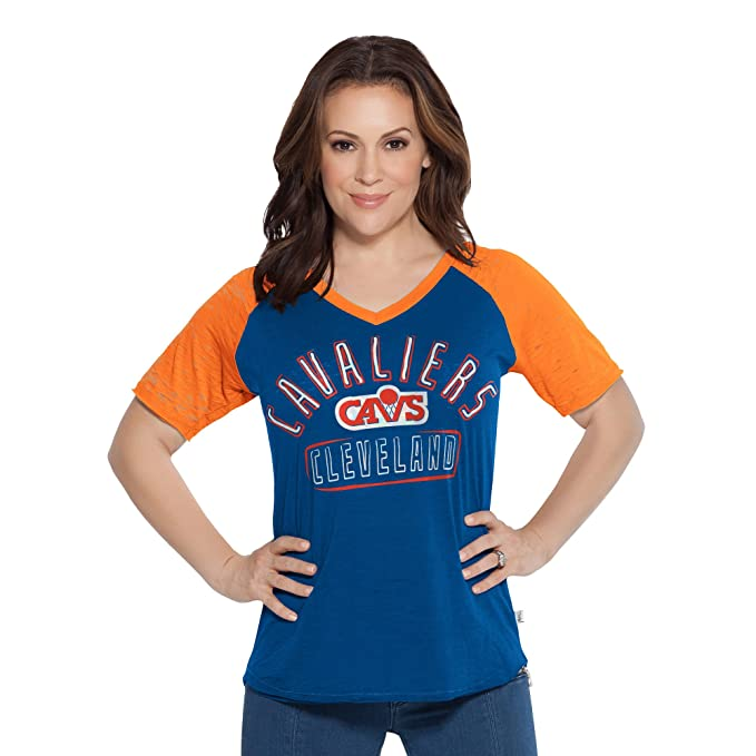check out e8150 8cf17 Touch by Alyssa Milano NBA Cleveland Cavaliers Women's Ace V-Neck Short  Sleeve Tee