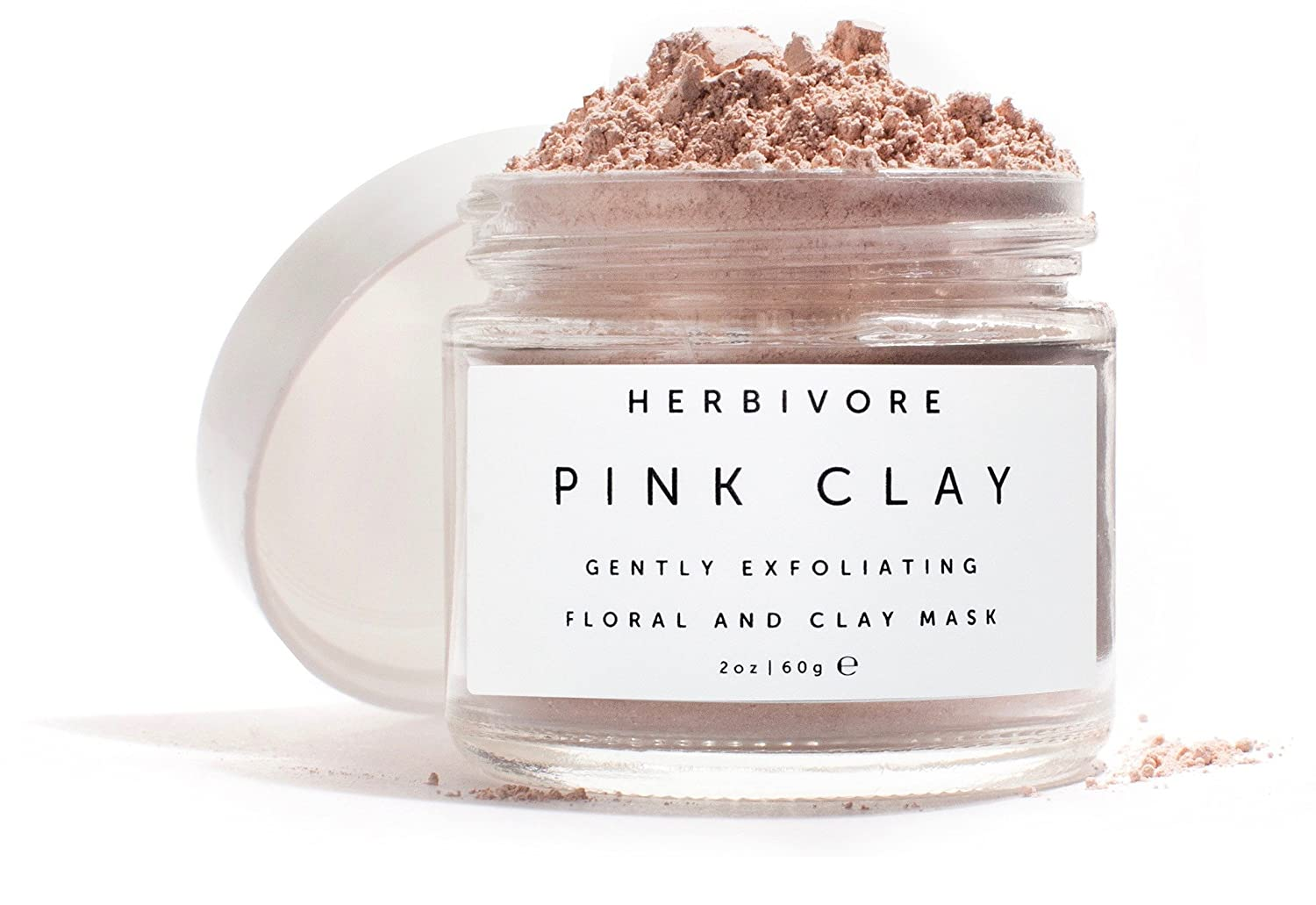 48d5617c2fe6 Amazon.com   Herbivore Botanicals - All Natural Pink Clay Exfoliating  Facial Mask   Beauty