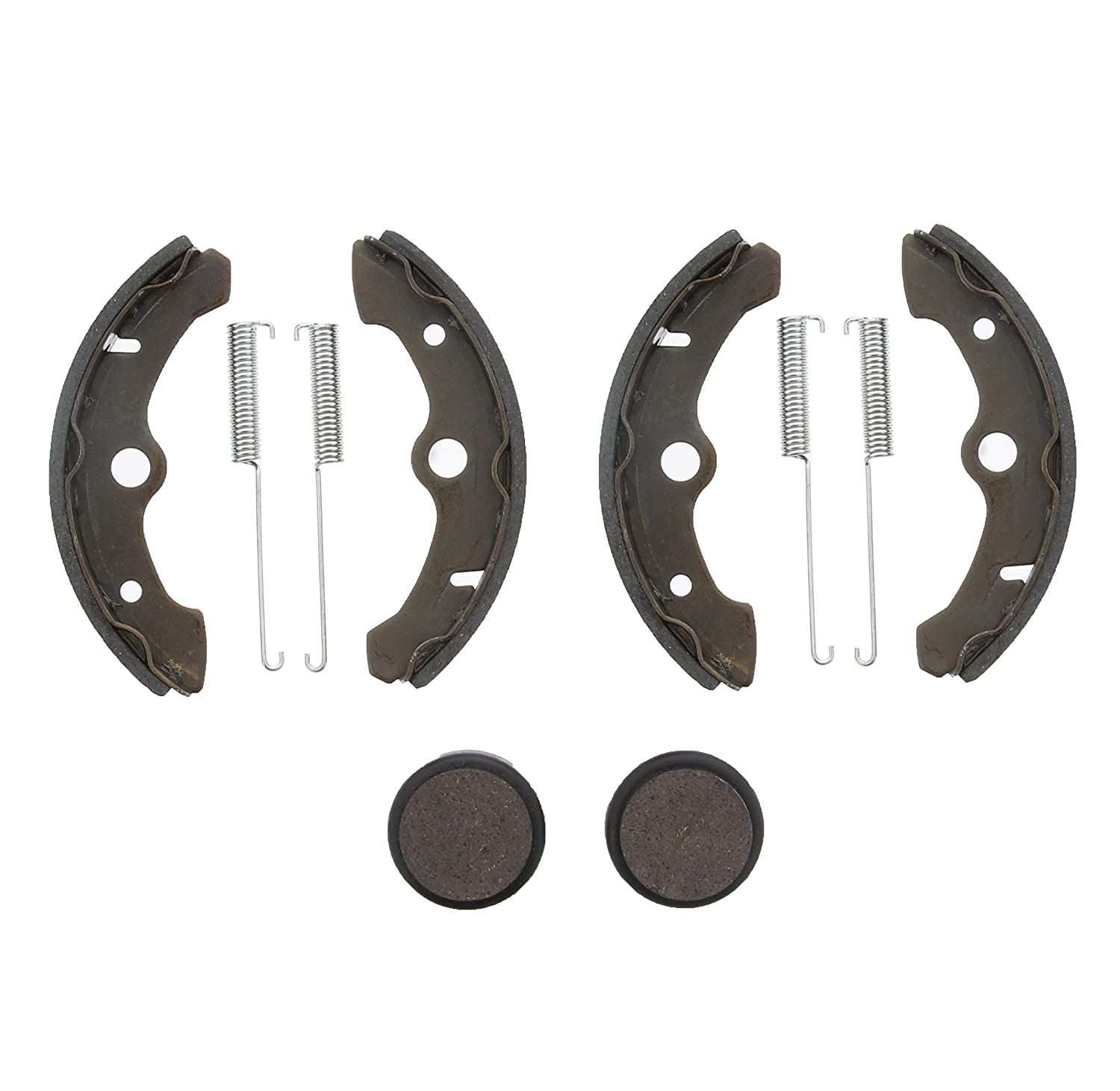 Race Driven Yamaha Front Brake Shoes & Rear Severe Duty Brake Pads for ATV UTV Yamaha Big Bear YFM 350 Race-Driven