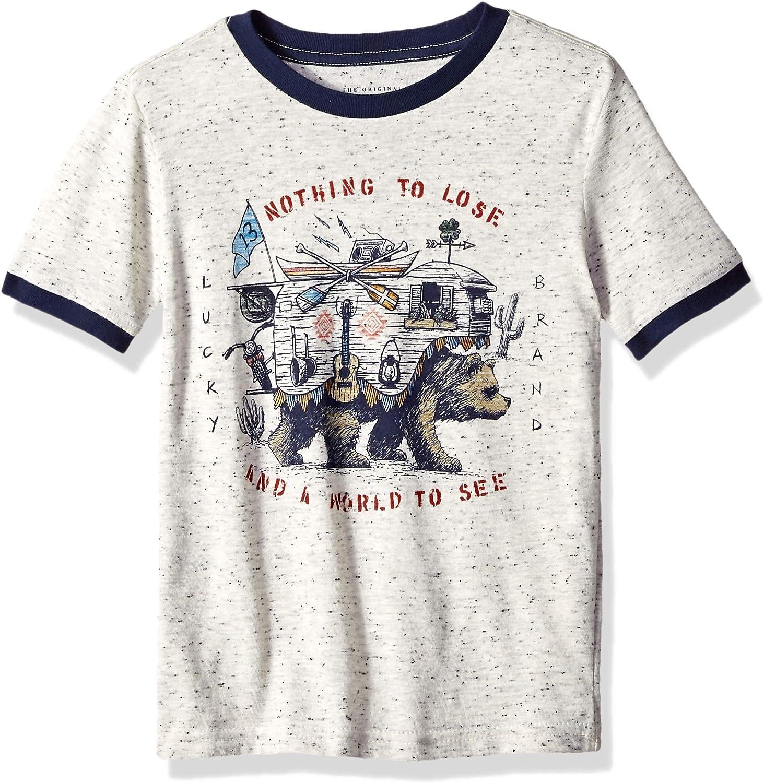 Lucky Brand Boys Short Sleeve Printed Tee Shirt