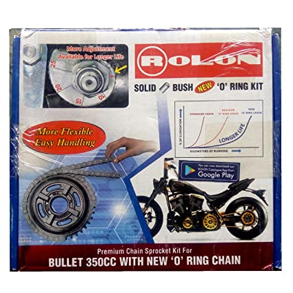 Rolon chain and Sprocket Kit : Royal Enfield Bullet Electra