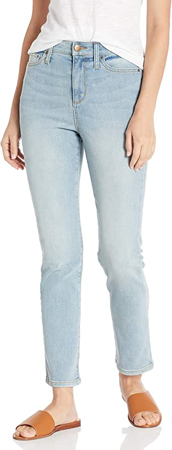 Daily Ritual Amazon Brand Women's High-Rise Slim Straight Jean