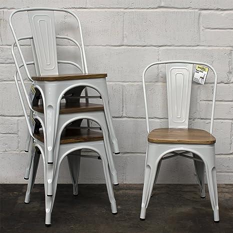 Marko Furniture - Set di 4 sedie in stile industriale vintage, in ...