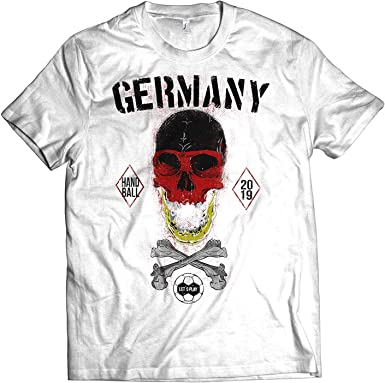 NG articlezz Camiseta Hombre Balonmano Calavera Camiseta de Fan WM ...