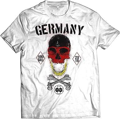 NG articlezz Camiseta Hombre Balonmano Calavera Camiseta de Fan WM ...