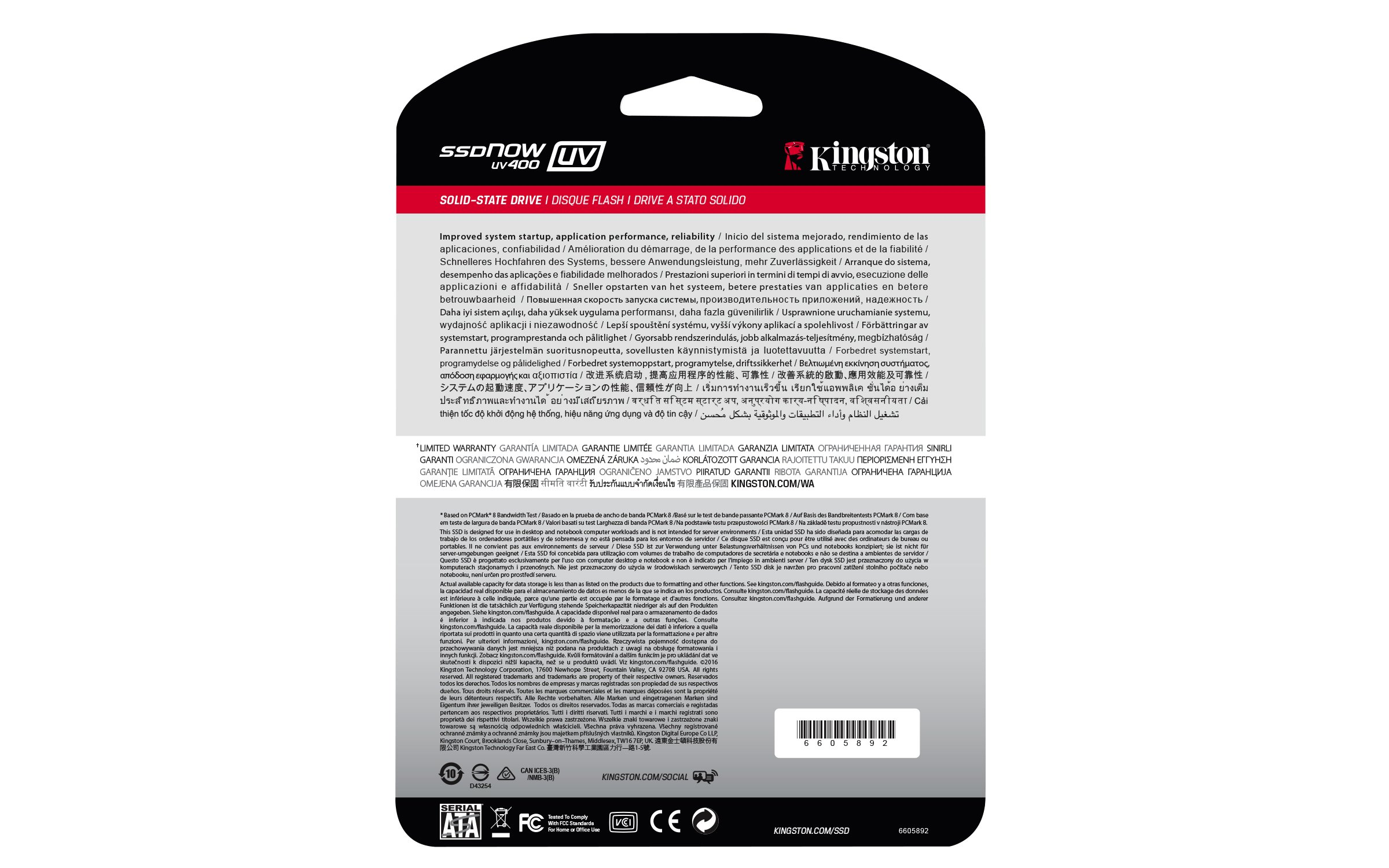 Kingston Digital 480GB SSDNow UV400 SATA 3 2.5'' Solid State Drive SUV400S37/480G by Kingston