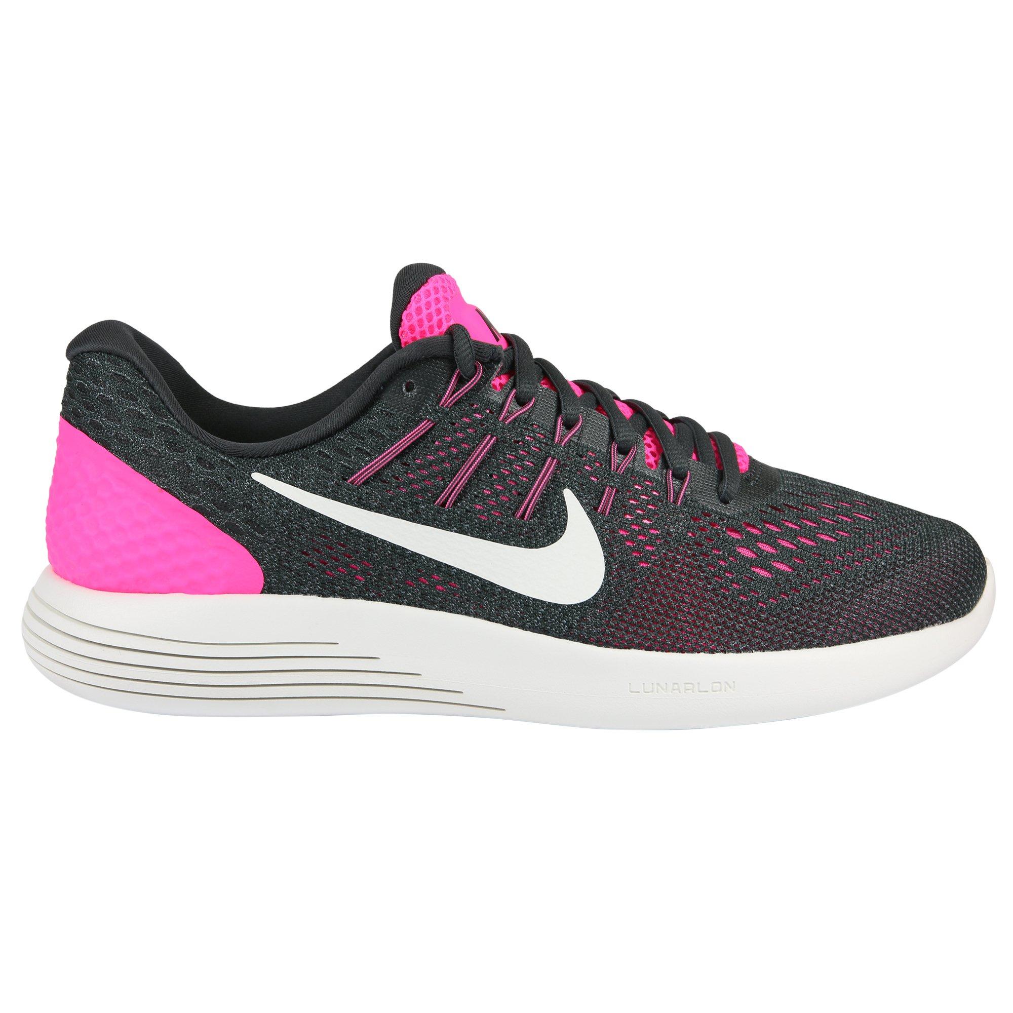 Nike Womens Lunarglide 8 Pink Blast/Summit White Running Shoe 9.5 Women US
