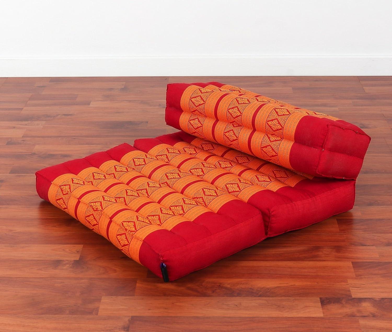 折り畳み式メディテーション用シート 20x30x6インチ カポックファブリック  SF02 - Orange B06Y5LQ3M9