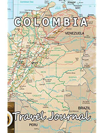 Colombia Travel Journal (Map-themed Travel Diaries)