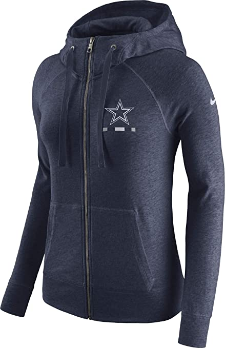 on sale edde2 f7636 Dallas Cowboys NFL Womens Nike Gym Vintage Full-Zip