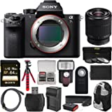 Sony Alpha A7S II 4K Wi-Fi Digital Camera Body with FE 28-70mm Lens + 64GB Card + Backpack + Flash + Battery & Charger + Tripod + Kit