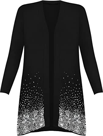 ff28a032adb WearAll Women s Plus Size Sequin Cardigan at Amazon Women s Clothing ...