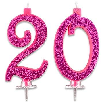 Velas Maxi de 20 años para Tarta de Fiesta de cumpleaños 20 ...