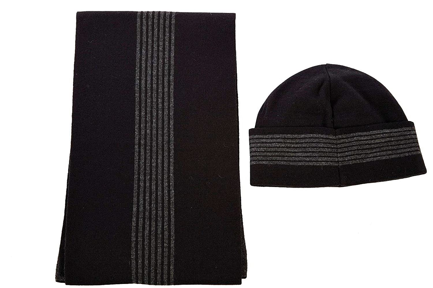 a537b2ee351 Emporio Armani EA7 men s beanie hat with scarf grey  Amazon.co.uk  Clothing